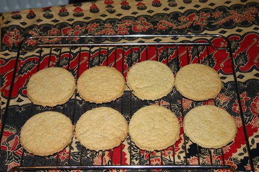 De eerste set koekjes is gelukt!